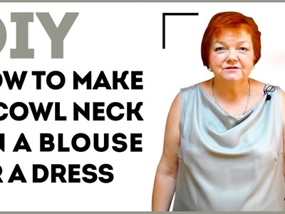 DIY: How to make a cowl neck on a blouse or a dress. Making a cowl neck on a top. Sewing tutorial.