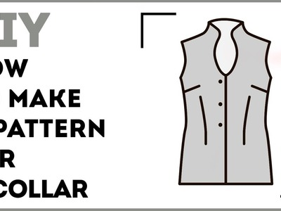 DIY: How to make a pattern for a collar. Making a one-piece band collar. Sewing tutorial.