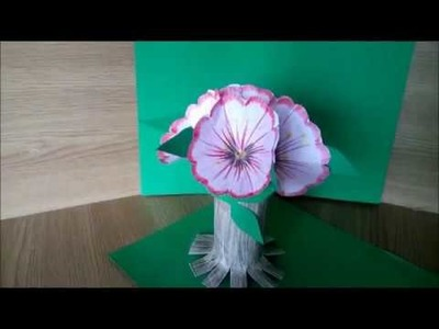 DIY- How to make a tree with flowers - 3D
