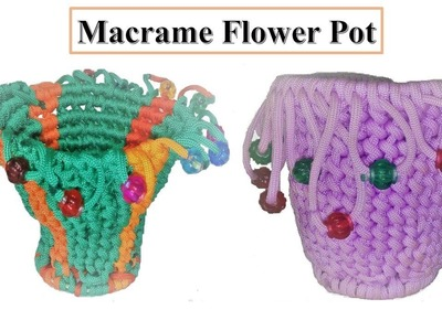 DIY How to make Macrame flower pot with wastage Macrame | Table flower pot