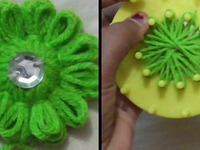 DIY - HOW TO MAKE WOOLEN FLOWER Step By Step || Woolen Flower