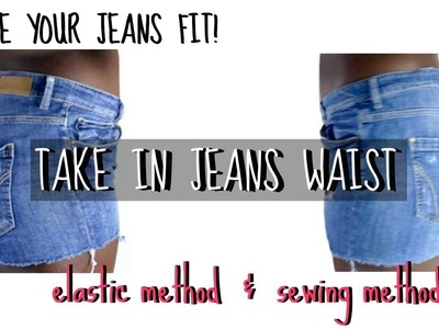 DIY : HOW TO TAKE IN JEANS! 2 WAYS!