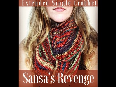 DIY - Learn to Crochet Extended Single Crochet Tutorial - How To