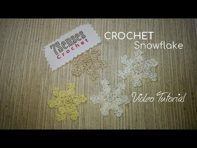 Easy Crochet Snowflake - Copo de Nieve en Crochet