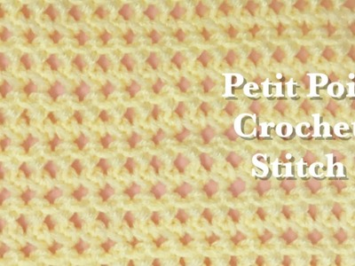 """Fast and easy """"Petit Pois"""" Crochet stitch for beginners #84"""