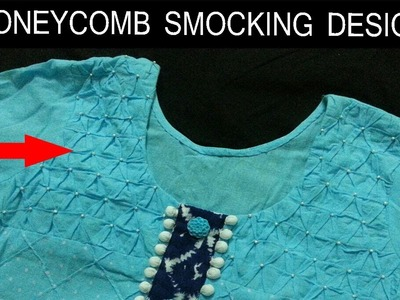 Hand embroidery.How to make Smocking designs.Honeycomb smocking.Handwork.Disha Handwork Gallery#14