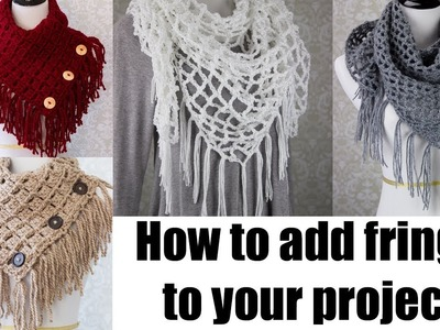 How to add fringe to your crochet.knitting projects