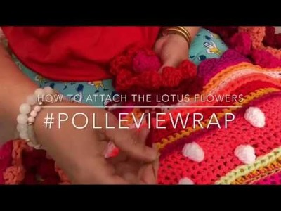 How to attach lotus flowers #polleviewrap