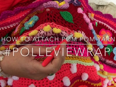 How to attach pom pom #polleviewrap