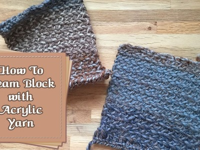 How to Block Acrylic with Steam :: by Babs at MyFieryPhoenix
