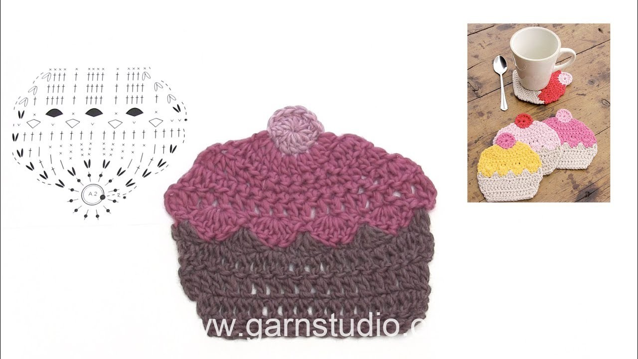 How to crochet a cupcake coaster