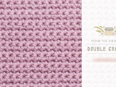 How To: Crochet A Double Crochet (UK Terms)  | Easy Tutorial by Hopeful Honey