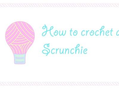 How to crochet a hair scrunchie