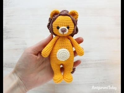 How to crochet a lion part 2.4: Arms & Leg - Hướng dẫn móc sư tử p2.4: Tay và chân