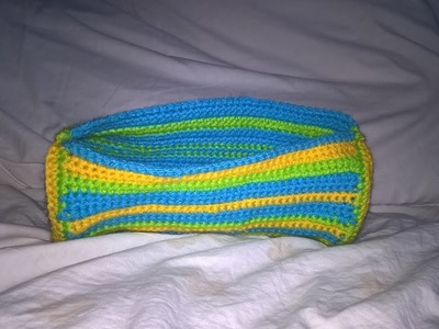 How to Crochet a round pencil case - The body and sides