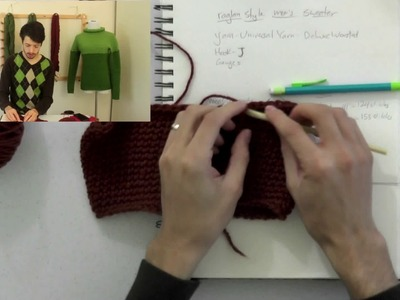 How to Crochet a Top Down Raglan Sweater: Part 4