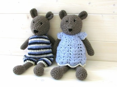 How to crochet Bertie and Bronte bear - Wooly Wonders Crochet Animals