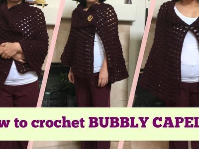 How to crochet BUBBLY CAPELET