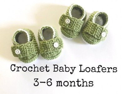 How to Crochet Easy Baby Loafers. Baby Shoes (3-6 months)