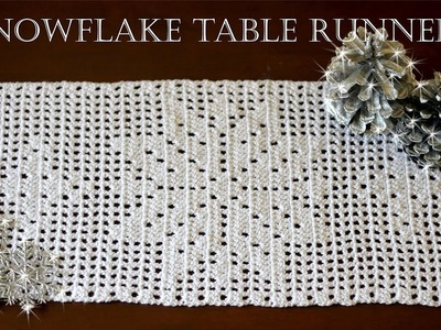 How To Crochet SNOWFLAKE Table Runner | Part 2