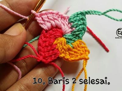 How to Crochet SPIRAL SQUARE || Slide Tutorial
