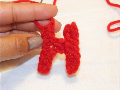 How to crochet the letter H