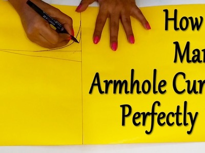 How to Cut Armhole Curve |  How to Mark Shoulder, Shoulder Slope , Neck Width & Armhole