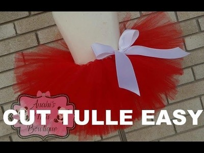 HOW TO: Cut Tulle Strips from a Bolt of Tulle