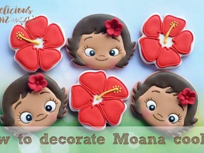 How to decorate Moana cookies