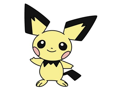 How to draw Pichu from Pokemon step by step