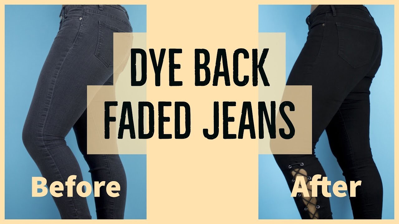 How To Dye faded Jeans + Transformation *Bonus*