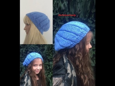 How To Knit a Hat Pattern #14│by ThePatternfamily