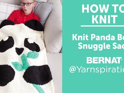 How to Knit: Panda Bear Snuggle Sack