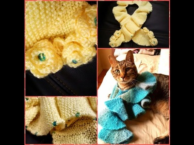 How To Knit Ruffled Scarf Using ShortRows: a Knittycat's Knits Tutorial