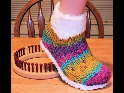 How to Loom Knit Ice Booties