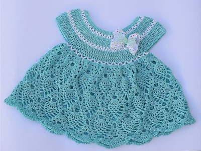 How to make a girl dress to crochet stitch pineapples