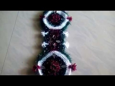 HOW TO MAKE A HANGING WOOLEN WALL. TODLIYO. ROOM GATE DECORATION