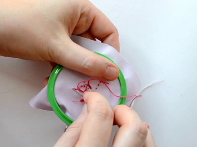 How to make a miniature embroidery pendant
