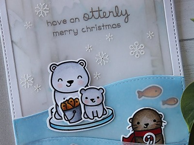 How to make a winter scene card