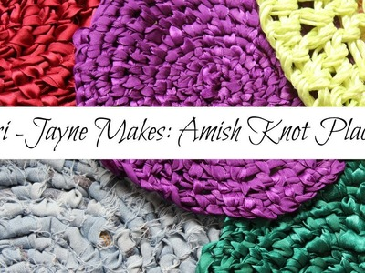 How to make Amish knot Trivets.Placemats (toothbrush rag rug)- Tutorial