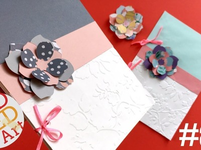 How to make an Embossed Notebook & Paper Flower with the Big Shot Foldaway by Sizzix (Sponsored)
