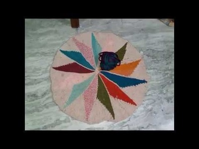 How to Make beautiful doormat from using old Saree and scarf. Diy doormat design projects.