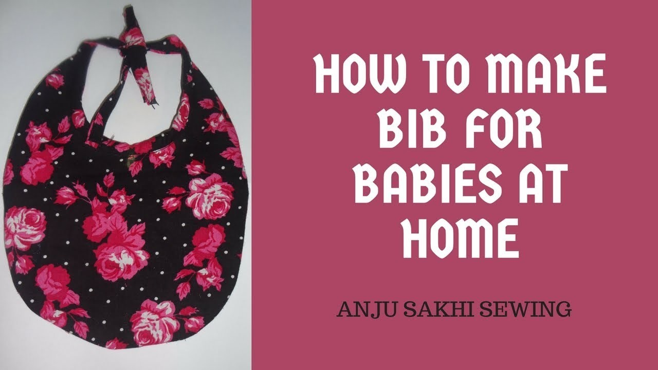 How to make Bib for babies at home   Stitching