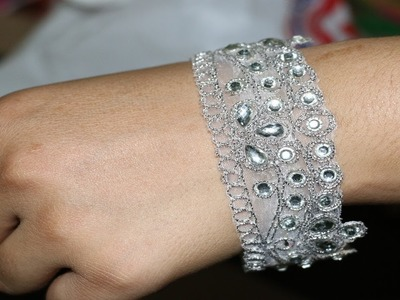 How To Make Bracelet With Waste Material.