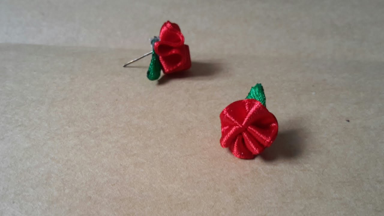 How to make flower earrings ; easy and beautiful