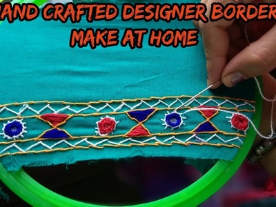 How to make hand crafted designer border at home.Hindi.