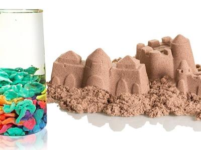 How To Make Kinetic Sand Slime Island and Aqua Magic Sand | DIY Amazing Sand & Slime Videos