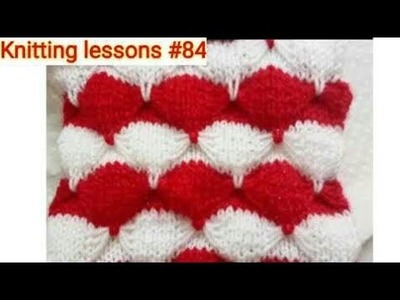 "How to make || Knitting || Scallops Shell Pattern || Sweater Design || by ""Knitting lessons"""
