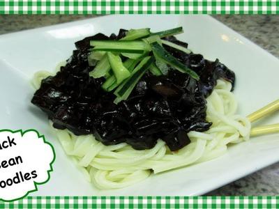 How To Make Korean Black Bean Noodles ~ Jjajangmyeon Recipe ~ Vegetarian Black Bean Noodles