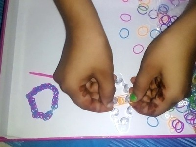 How to make loom band by the party pack 3 in 1 by Raashika Rathore